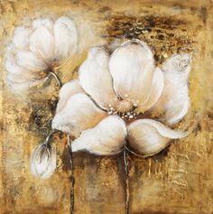 Wall Decor Arte Floral, Contemporary Paintings, Painting Techniques, Art Pictures, White Flowers, Flower Art, Landscape Paintings, Amazing Art, Cool Art