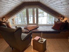 Small Attic Room, Attic Rooms, Attic Bedroom Designs, Attic Design, Mezzanine Bedroom, Cabin Interiors, A Frame House, Tiny House Cabin, Cinema Room