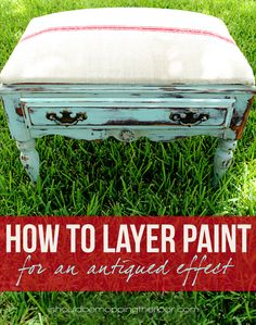 Learn how to easily blend and layer paint onto your furniture. See our FREE furniture painting techniques and layering paint tutorials to help you get a beautiful layered paint finish! Refurbished Furniture, Paint Furniture, Furniture Projects, Furniture Makeover, Home Projects, Layer Paint, Distressed Furniture, Furniture Inspiration, Diy Painting