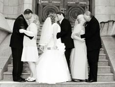 his parents, bride and groom, and her parents. love this!