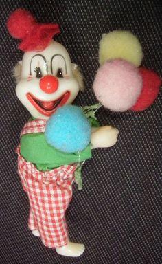 puppe Klammertier Klemmfigur ca10cm clown mit luftballons harlekin sammeln