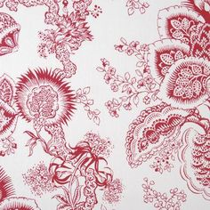 Pattern Red Suburban Home Fabric Round Hill Traditional Prints Pink Fabric, Floral Fabric, Drapery Fabric, Fabric Decor, Grey And Red Living Room, Fabric Combinations, Fabric Suppliers, Red Accents, Fabric Patterns