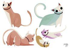 Cat Character Design by callupish.deviantart.com on @deviantART