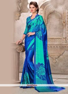 Glossy Casual Saree For Casual