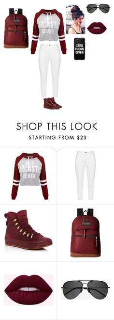 """""""Casual"""" by skyla-santos on Polyvore featuring WithChic, Zhenzi, Converse, JanSport, Yves Saint Laurent and Casetify"""