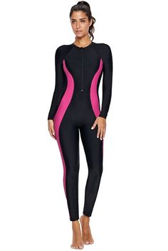Pink Hourglass Accent Black Rash Guard Wetsuit