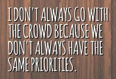 Priorities......