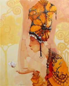 Merab Gagiladze - My Butterfly Dream Pictures, Surrealism Painting, Beautiful Drawings, Fantastic Art, Portrait Art, Art And Architecture, Unique Art, Female Art, Art Projects