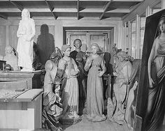 Documenting Nazi Plunder of European Art Hermann Goering's art collection, stolen from museums across Europe, is stored temporarily in building near Berchtesgaden while being catalogued, June 9, 1945. (NARA #111-SC-207820)