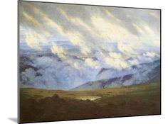 Scudding Clouds Giclee Print by Caspar David Friedrich at Art.com