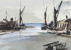 View Whitstable harbour at low tide illustrated and A river landscape, winter 2 works by Rowland Hilder on artnet. Browse upcoming and past auction lots by Rowland Hilder. Whitstable Kent, Winter Landscape, Sailing Ships, Past, Auction, River, Illustration, Artist, Watercolour