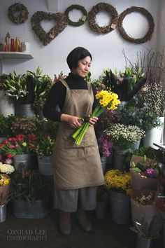 Environmental portrait of florist - Conrad Lee photography