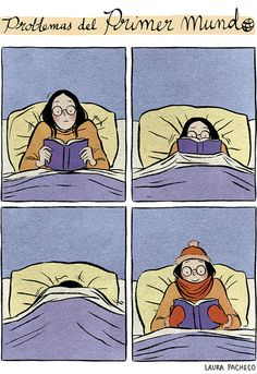 Getting to the good part and a happy ending... (Laura Pacheco). Yes, I hate when I get cold when reading in bed
