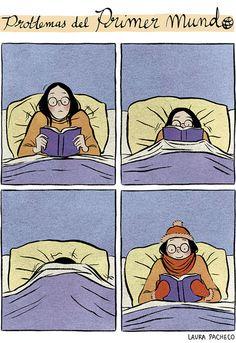 Lectura bajo cero… hay que abrigarse! (ilustración de Laura Pacheco)