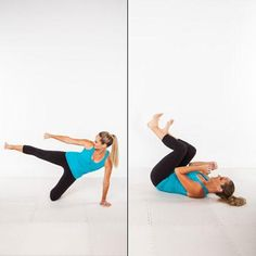 Rolling Side Kick   Targets your core, hips, thighs, arms, & shoulders.