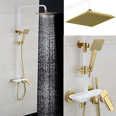 Shower Faucet Antique Rain Shower/Handshower Included Brass Painting – USD $ 319.99