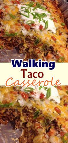 Walking Taco Casserole – Page 2 – Best Skinny Recipes food recipe casseroles Casserole Taco, Casserole Dishes, Casserole Recipes, Meat Recipes, Mexican Food Recipes, Italian Recipes, Cooking Recipes, Waffle Recipes, Snacks Recipes