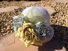 Girls floral hat available at www.petalprintsboutique.com