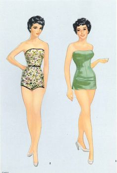 Elizabeth Taylor* The International Paper Doll Society by Arielle Gabriel for…
