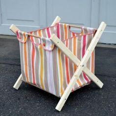DIY Hamper Sewing Tutorial + Building Plans