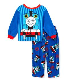Look at this Blue Thomas & Friends Pajama Set - Toddler on #zulily today!