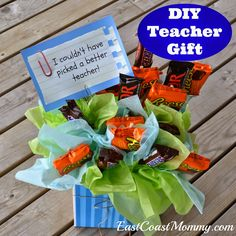 6 DIY Teacher Gifts. They are all adorable... and the website includes tutorials and free printable tags.