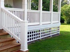 My Blueberry House: veranda Deck Railing Design, Pergola Designs, Porch Veranda, Roof Window, Bright Homes, Backyard, Patio, Decks And Porches, Cozy Cottage