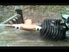 Convert 4 stroke to steam engine part 1 - YouTube