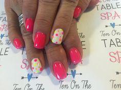 Neon & pokey dots Nailart