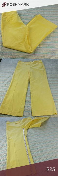 Lilly Pulitzer Sz 6 Yellow Palm Beach Fit Corduroy Lilly Pulitzer Size 6 Yellow Stretch Cotton Corduroy Cord Pants Palm Beach Fit Lilly Pulitzer Pants Trousers