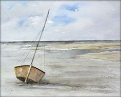 Ebbe  - Aquarell - 24 x 32 cm - Original - Landschaft