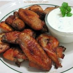 Baked Buffalo Wings with Blue Cheese Dip (Atkins Diet Phase 1 Recipe) - Diet Plan 101