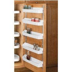 Buy the Rev-A-Shelf White Direct. Shop for the Rev-A-Shelf White RAS Polymer Diameter D-Shaped Five Shelf Lazy Susan Set with Extension Shaft and save. Cabinet Door Storage, Kitchen Cabinet Organization, Home Organization Hacks, Kitchen Cabinets, Cabinet Organizers, Corner Cabinets, Organizing Ideas, Kitchen Organizers, Cabinet Space