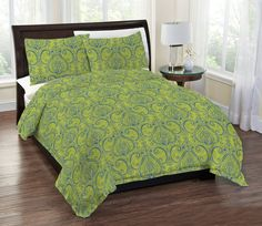 Regal Home Collections 3-Piece Alessia Printed Paisley Damask Comforter Set K... #RegalHomeCollections