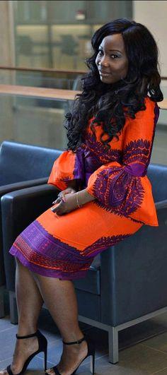 Naima dashiki dress. ~ DKK~ #Africanfashion #AfricanWeddings #Africanprints #Ethnicprints #Africanwomen #africanTradition #Bazin #AfricanArt #AfricanStyle #Kitenge #Kente #Ankara #Nigerianfashion #Ghanaianfashion #Kenyanfashion #traditionalwedding #latestafricanfashion Join Us: https://www.facebook.com/LatestAfricanFashion/