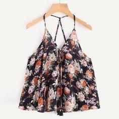Floral printing Camis Summer Women Crop Top Vest Bandage Tank Shirt Off  Shoulder Chiffon Tank Top 3acb1053a61
