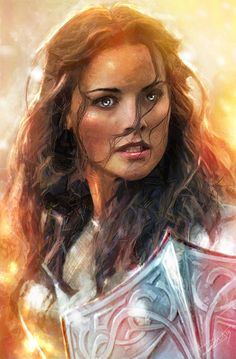 The lady Sif - Jaimie Alexander | Digital Art by Daniel Scott Gabriel Murray
