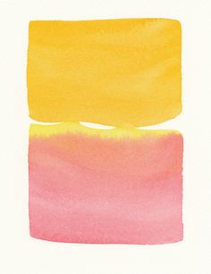 orange merging with rose original small watercolor // $60.00 // Via Malissa's Place on Etsy