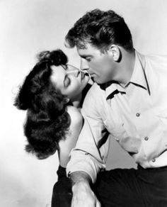 Ava Gardner and Burt Lancaster in a publicity photo for The Killers  (Robert…