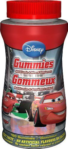 Disney Multivitamin Gummy Cars 180 count by Disney, http://www.amazon.ca/dp/B00BMHB1XA/ref=cm_sw_r_pi_dp_FXWwrb0DC86FY