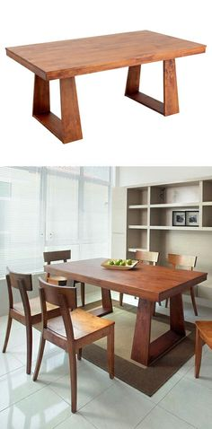 Love the awesome leg design on this dining table! #furniture_design #design_inspiration