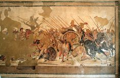 Battle of Issus, Philoxenos of Eretria. House of the Fawn, Pompoii, Italy.  ca. 310 BCE, Roman copy of Greek painting