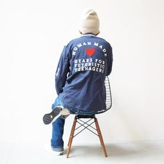 2012.11.17 TOPS: HMMD SCHOOL JKT #002 BOTTOMS: HMMD DENIM PANTS #007 KICKS: CONVERSE ADDICT by NIGO® HEAD: HMMD BEENIE BEIGE Nigo, Denim Pants, Kicks, Street Wear, Menswear, Graphic Sweatshirt, Street Style, Sweatshirts, Sweaters