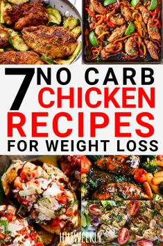 7 Low Carb Chicken Recipes for Faster Fat Loss - HIITWEEKLY 7 tasty low carb Chicken recipes for fast weight loss. Healthy Chicken recipes to lose weight.<br> 7 tasty low carb Chicken recipes for fast weight loss. Healthy Chicken recipes to lose weight. Diet Food To Lose Weight, Weight Loss Meals, Healthy Recipes For Weight Loss, Fast Weight Loss, How To Lose Weight Fast, Healthy Dinner Recipes, Low Carb Weight Loss, Healthy Low Carb Meals, Lose Fat
