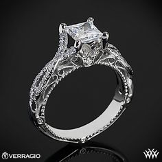 Verragio Pave Twist Diamond Engagement Ring from the Verragio Venetian Collection.