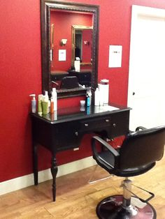 Hair station at E Day Spa and Salon