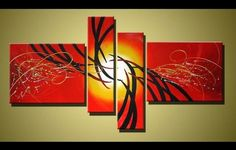 Red Abstract Art, 4 Piece Canvas Art, Acrylic Painting for Sale, Contemporary Art Red Abstract Art, Contemporary Abstract Art, Abstract Landscape, Tree Of Life Painting, Hand Painting Art, Canvas Paintings For Sale, Buy Paintings, Abstract Paintings, Landscape Paintings