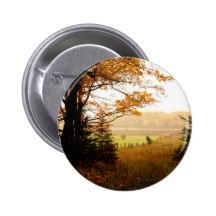 Misty Morning in the Country 2 Inch Round Button