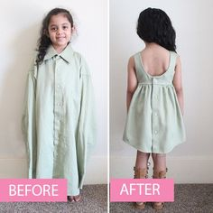 How to create a LINED toddler dress from an adult shirt - Diy Kleidung Fashion Kids, Diy Fashion, Ideias Fashion, Toddler Fashion, Fashion Clothes, Fashion Shirts, Fashion Top, Fashion 2016, Fashion Sewing