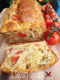 Plumcake tomatoes mozzarella olives